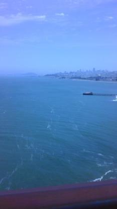 San Francisco from the Golden Gate Bridge with a blue tinge