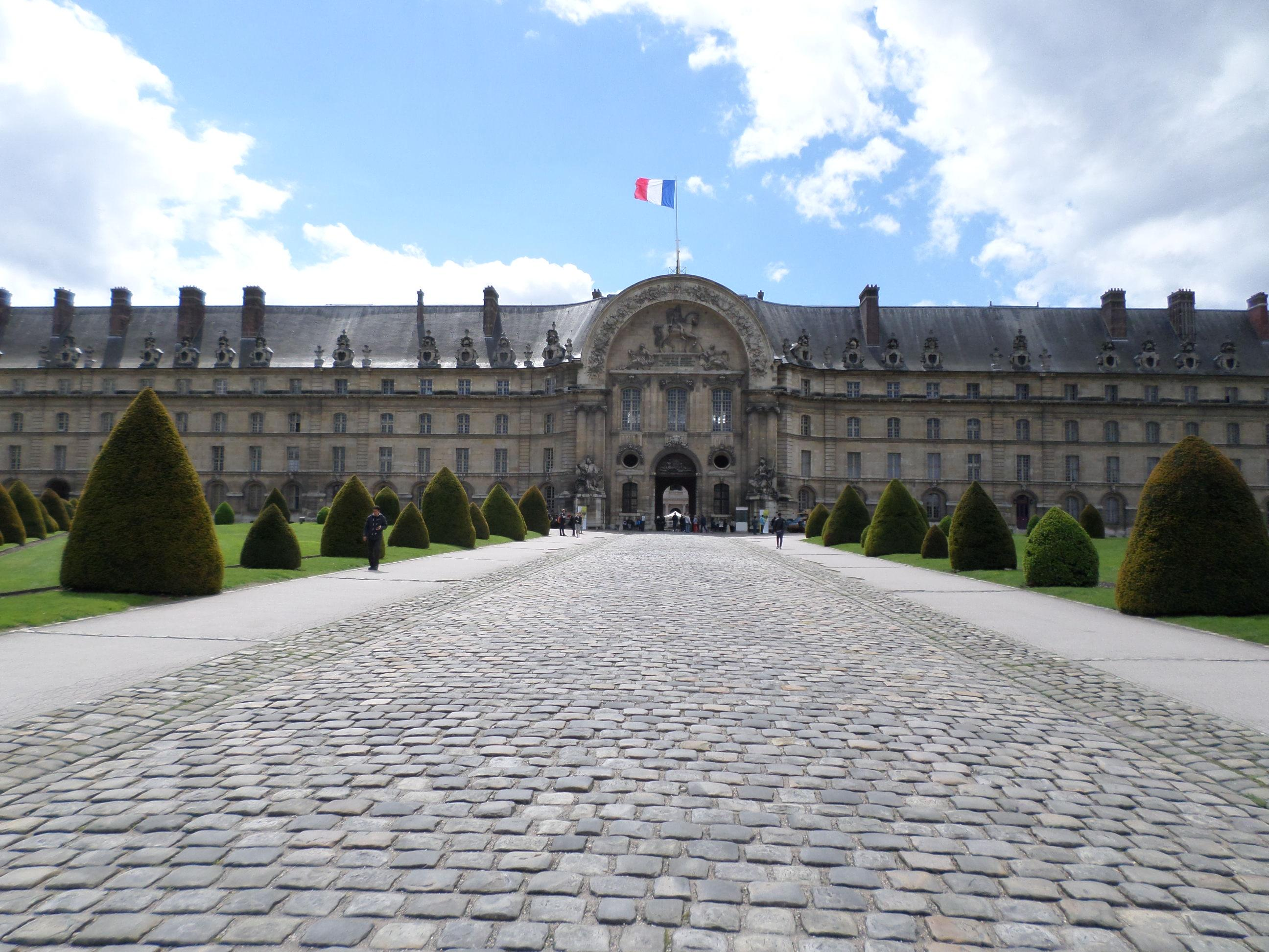 The front of the Hotel National des Invalides. Admission is part of the Paris Museum Pass.