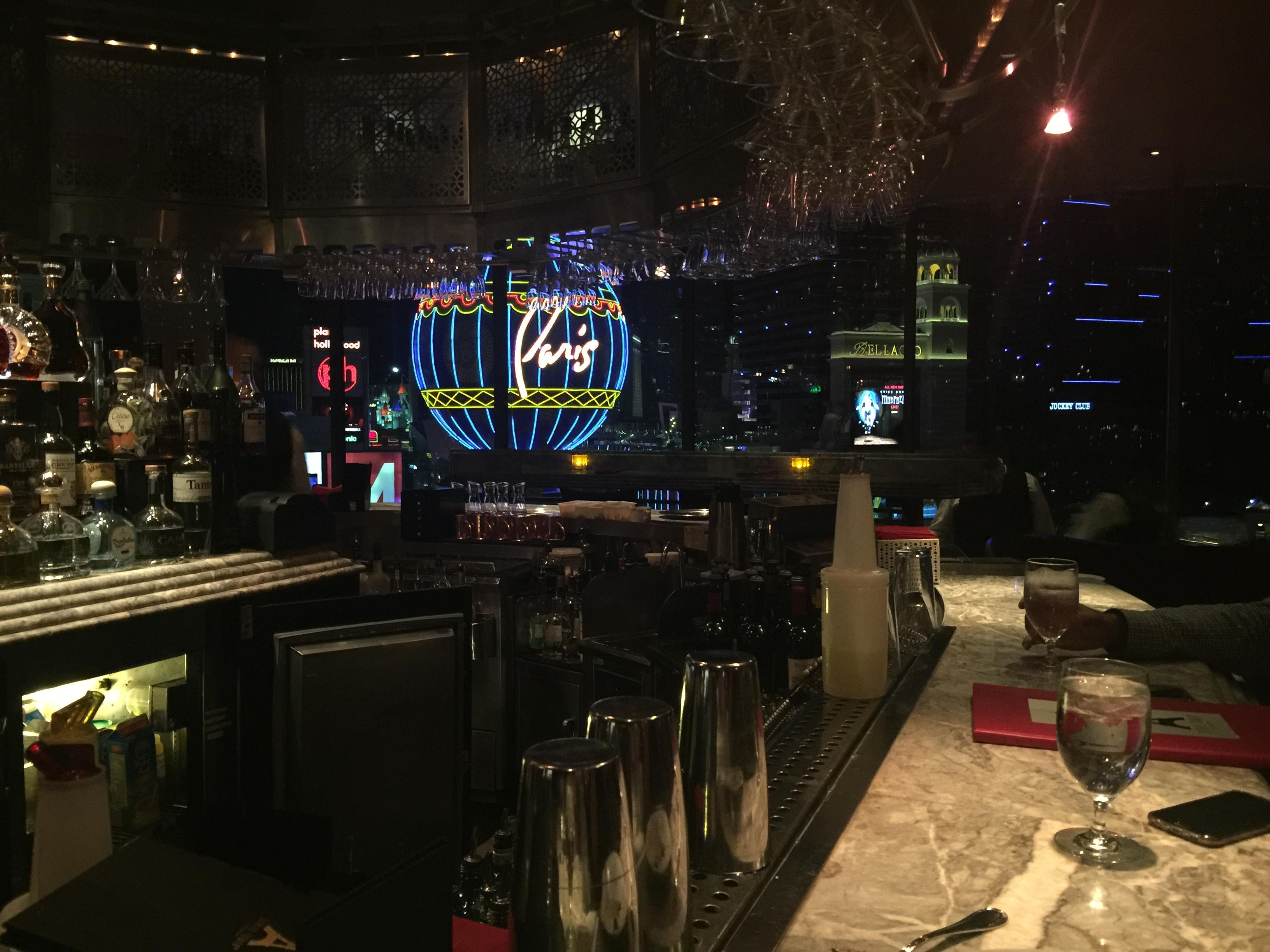 OpenNote: Bar at the top of the Eiffel Tower in Las Vegas