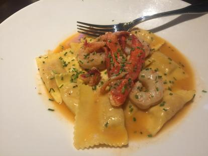 Lobster and shrimp ravioli at Yard House #food $22 2019. Small portions. Salmon is a bette