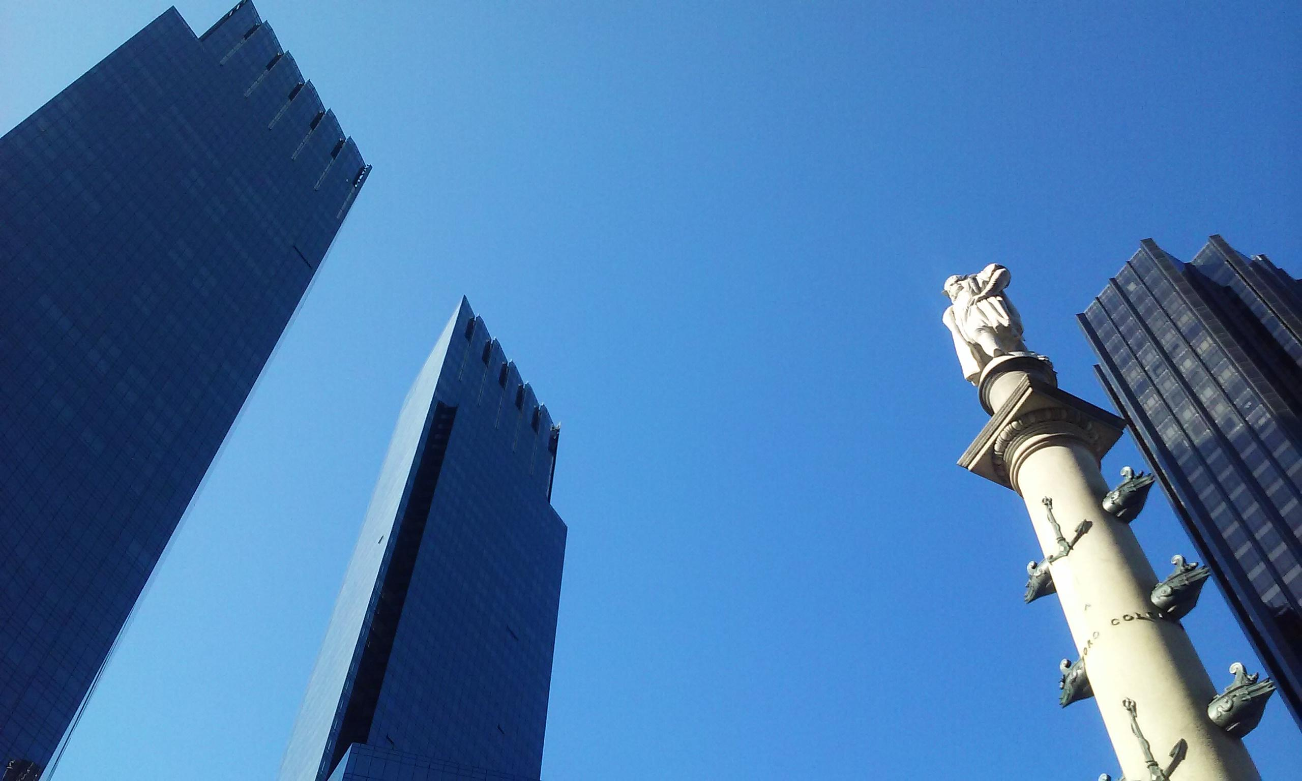 Columbus Circle and the a Time Warner Building