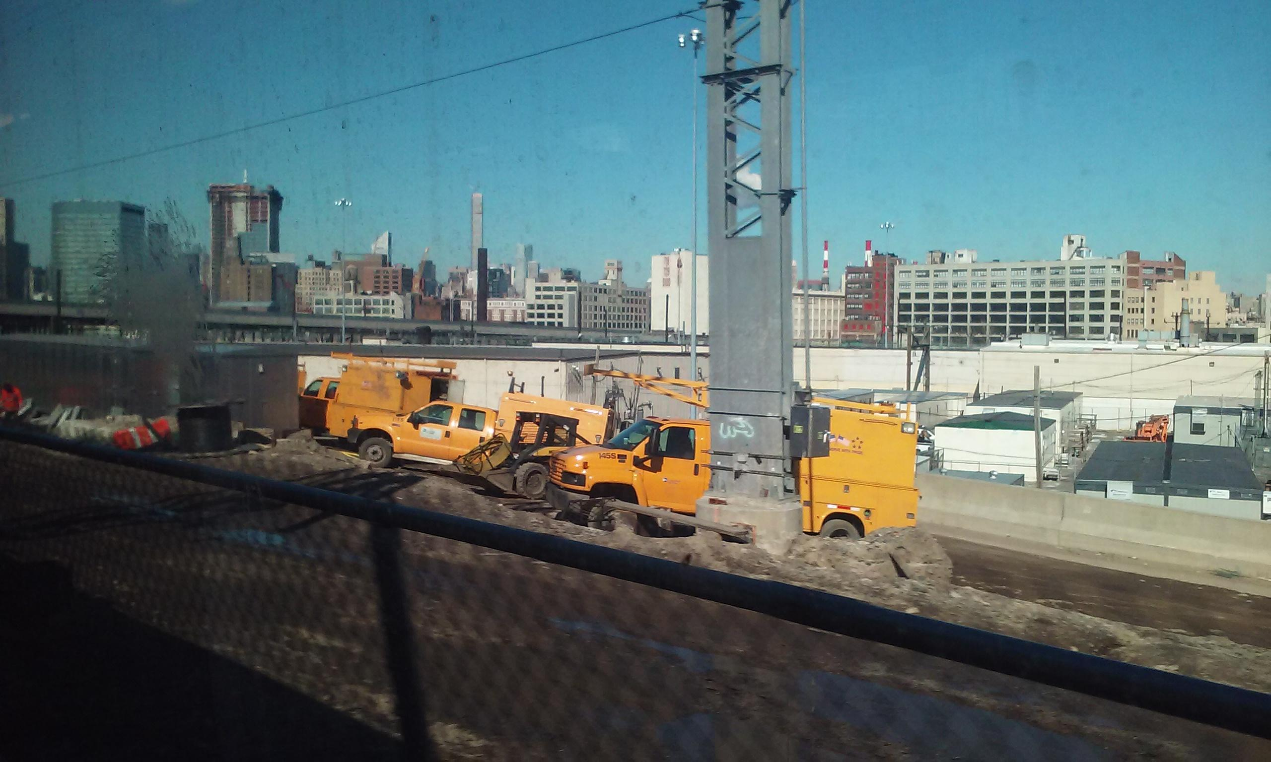 New York Skyline from the rail road.