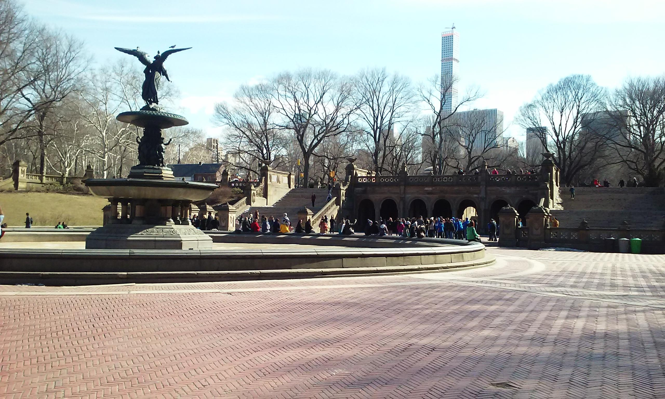 The fountain at Central Park