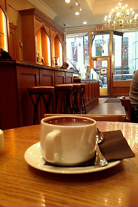 La Maison du Chocolat. A rich hot chocolate. Guayaquil. Thick. Vanilla. $8.50.