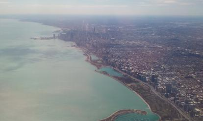 Chicago from above.