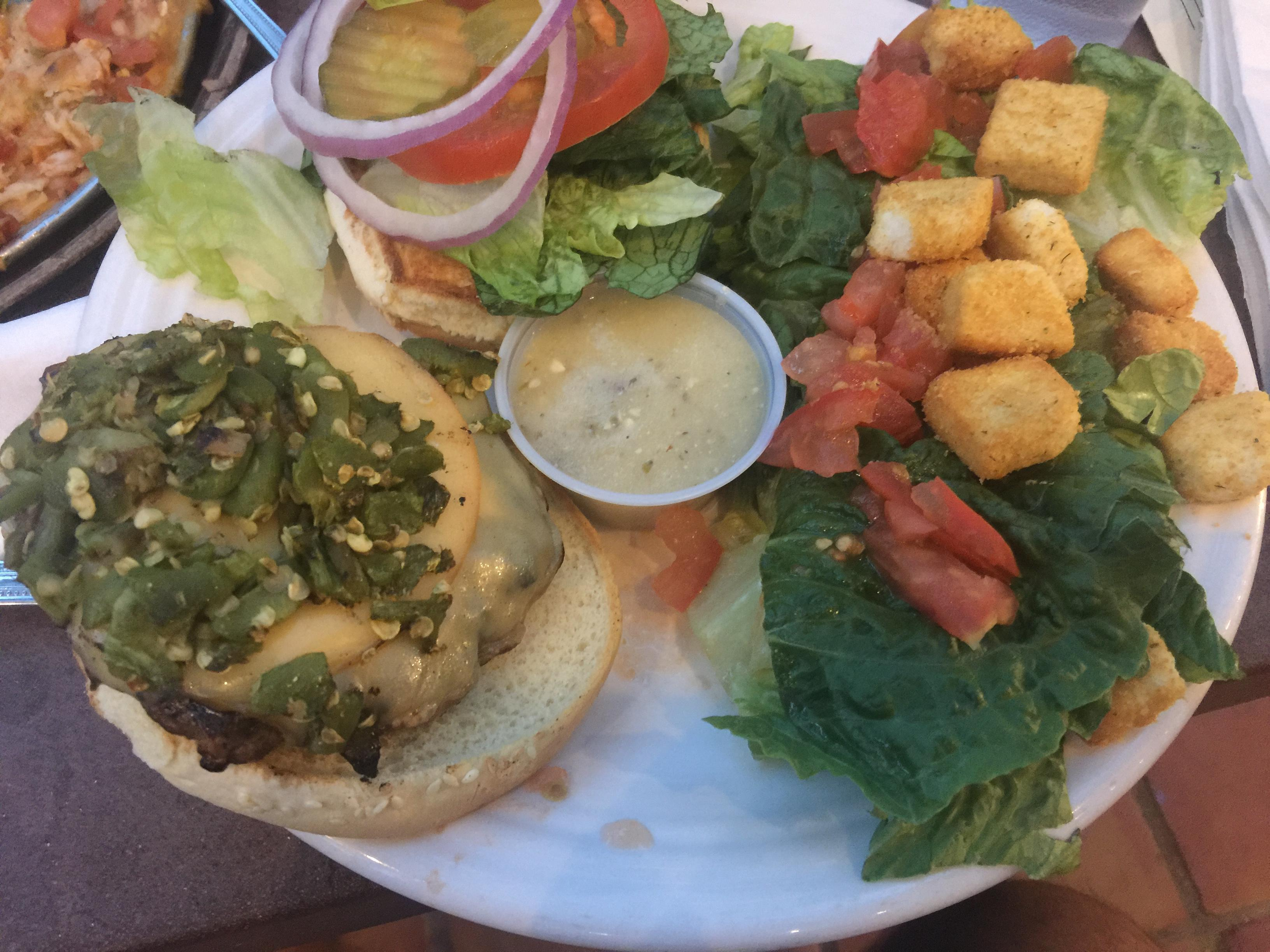 High Desert Brewing Company  green chile burger #food