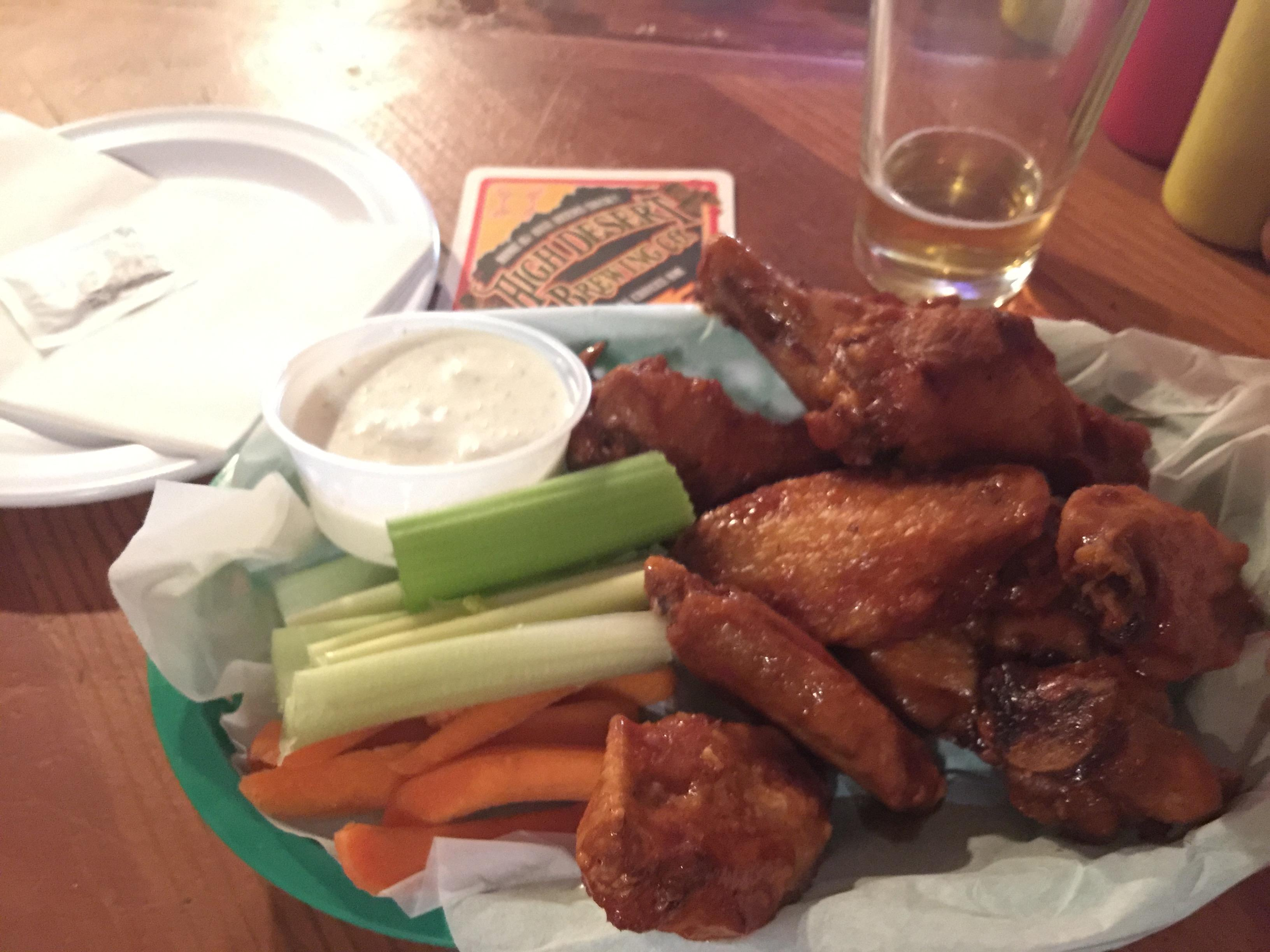 Wings at High Desert Brewing Company #food