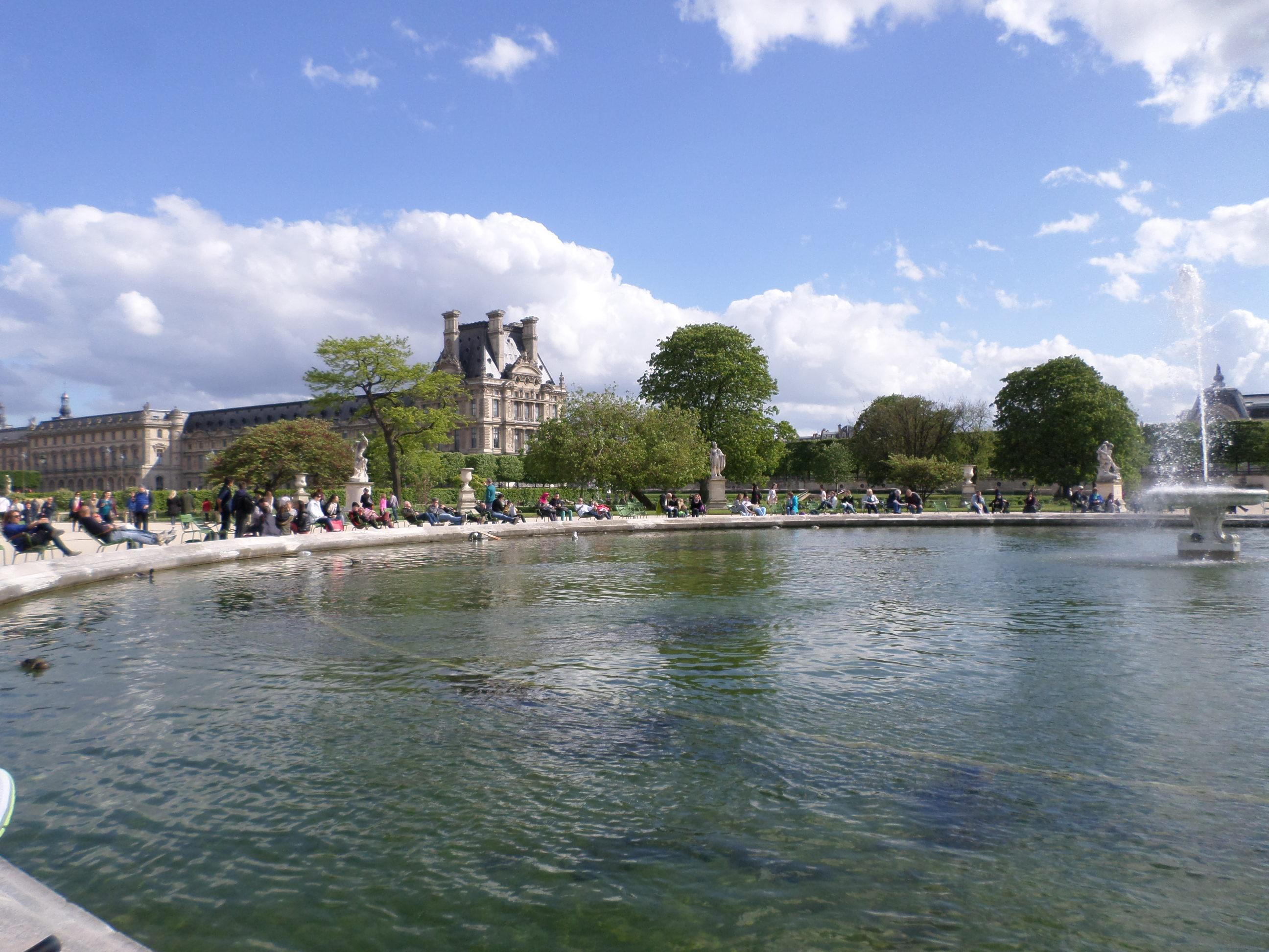 The pond at the Tuileries Garden is a wonderful place to enjoy a spring day in Paris. The