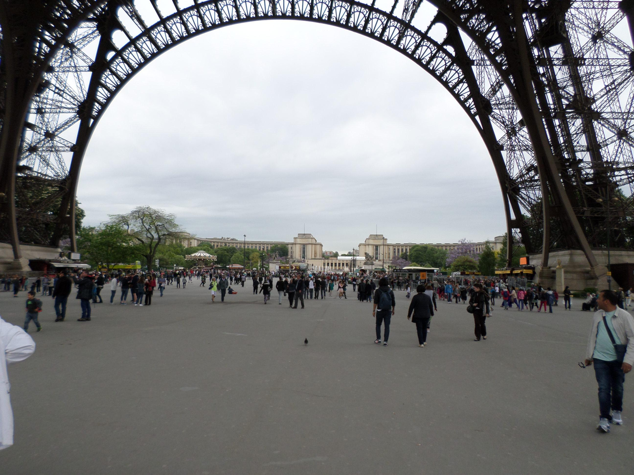 The base of the Eiffel Tower. Click on the large picture for more pictures and notes about