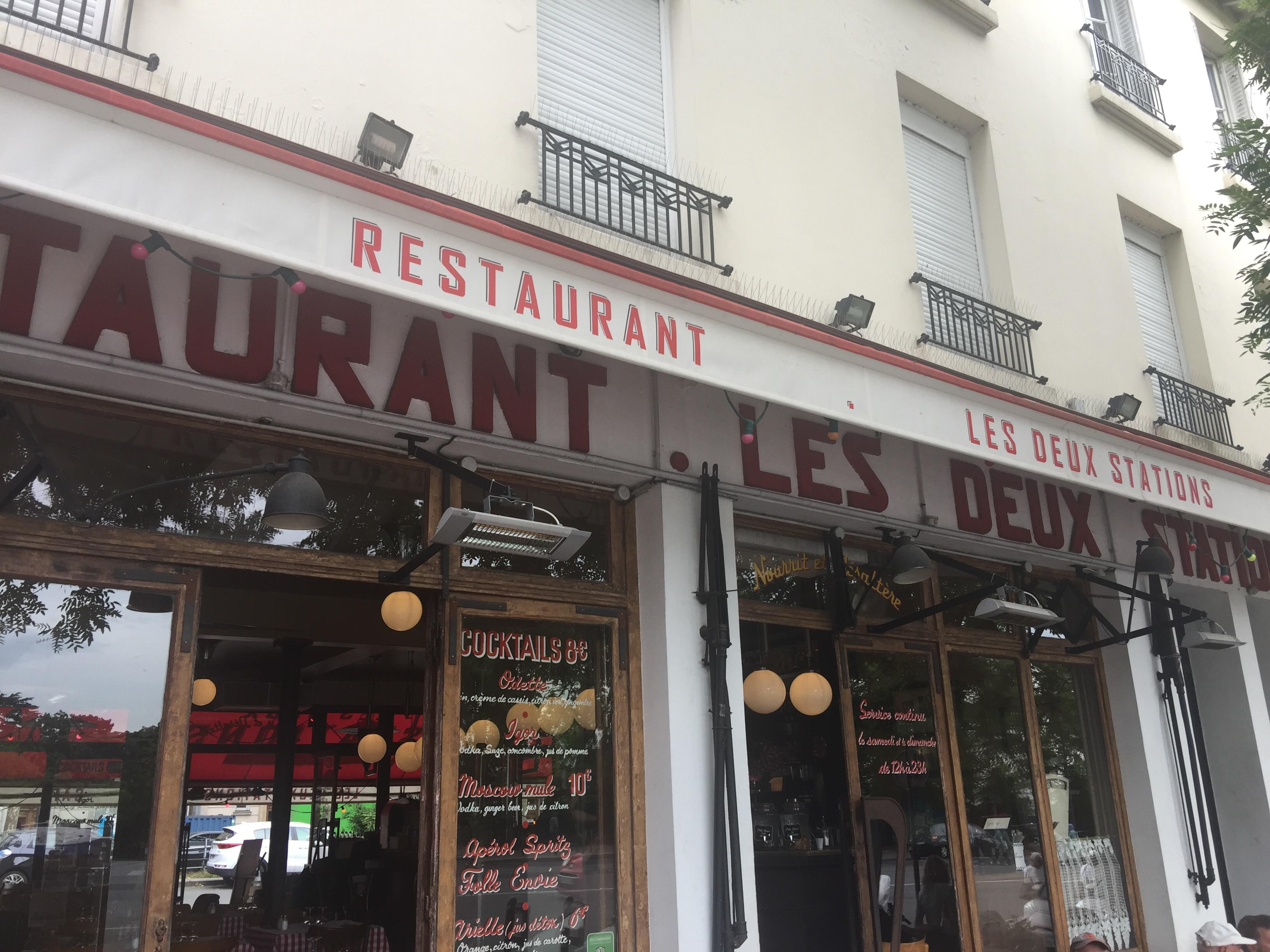 Les Deux Stations Cafe free WiFi near Roland Garros 2018