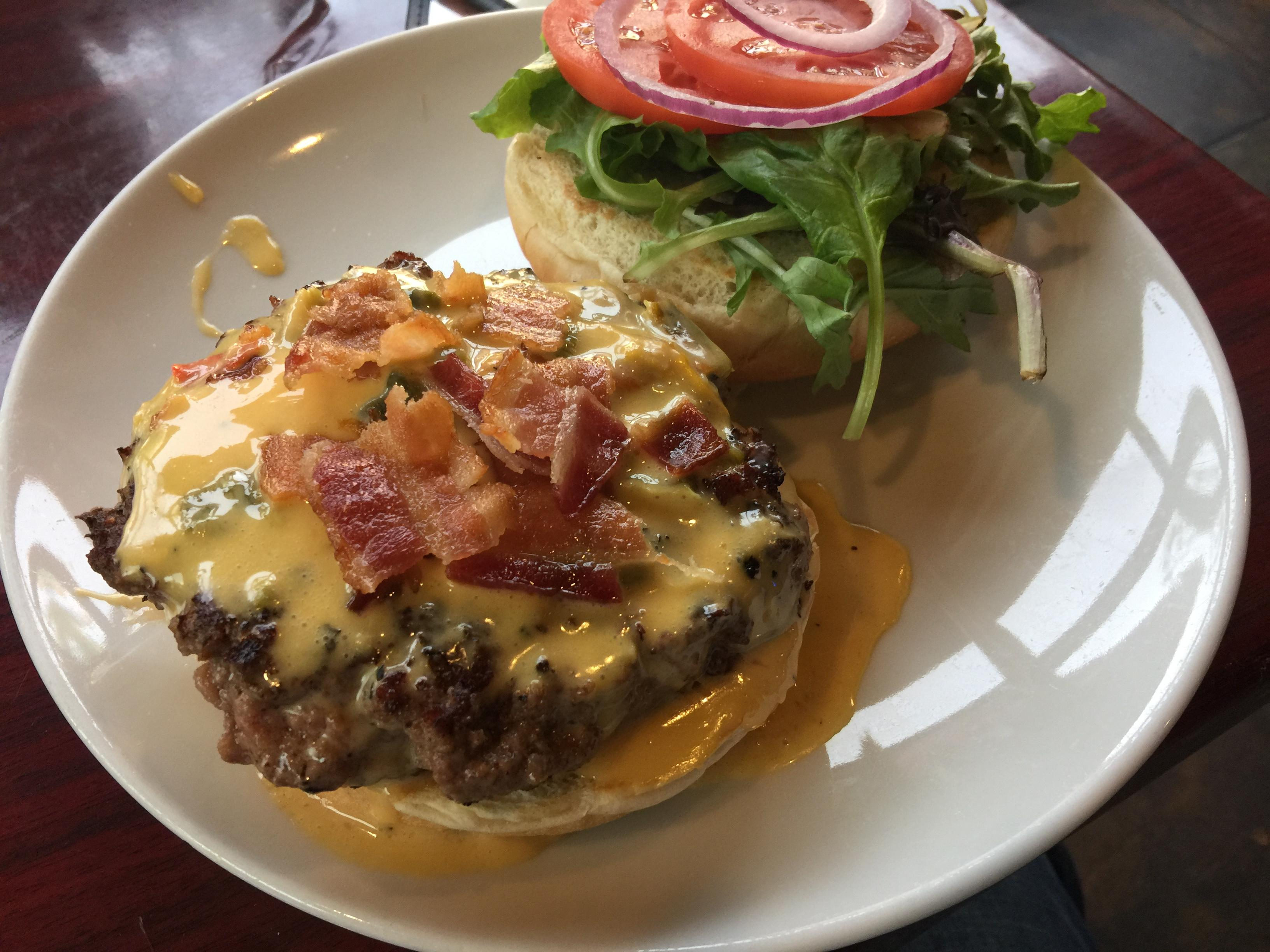 Queso burger at Mainstreet Bistro Ale House $12