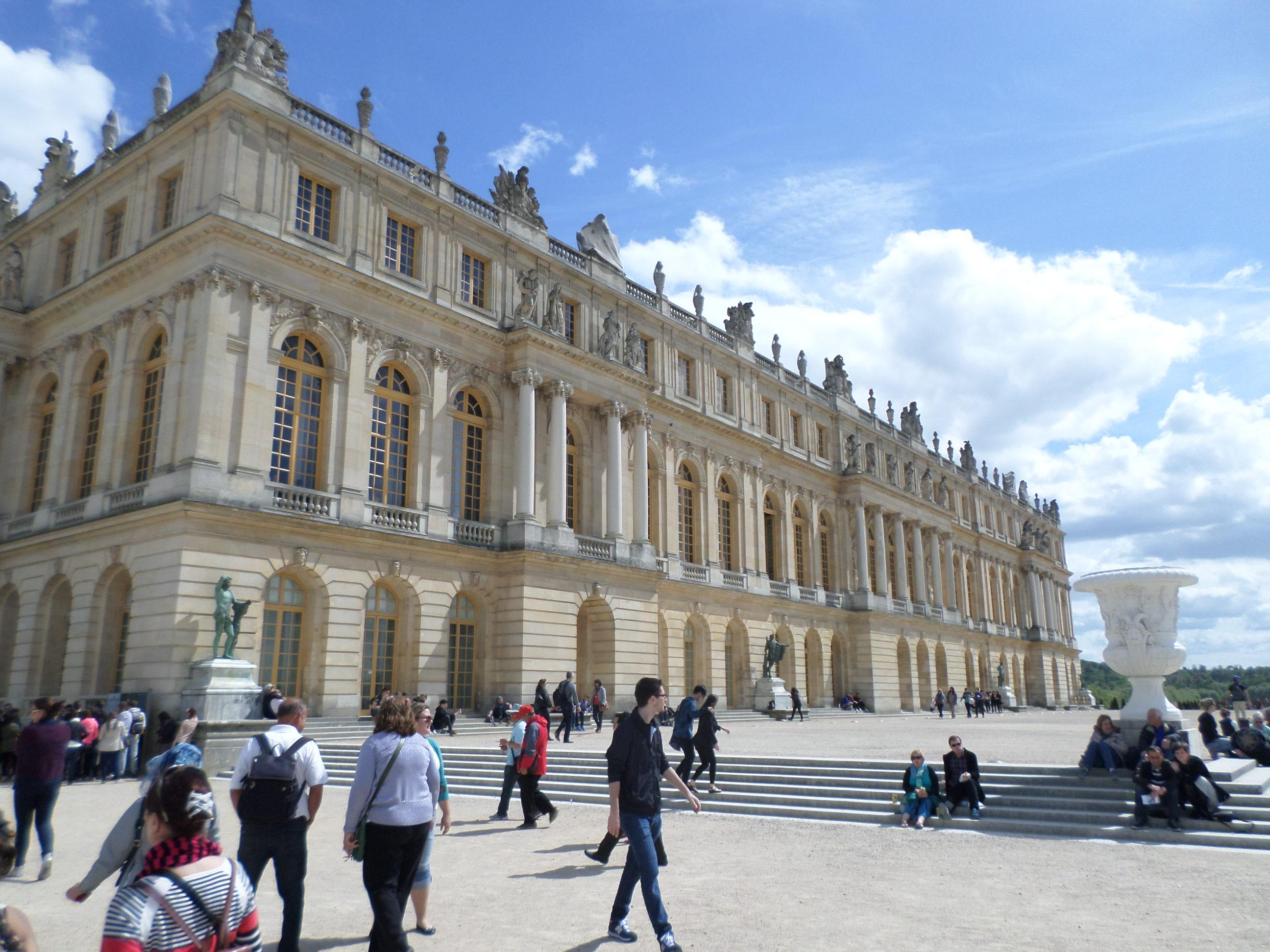 Palace of Versailles France. Accessible from Paris with a train trip.