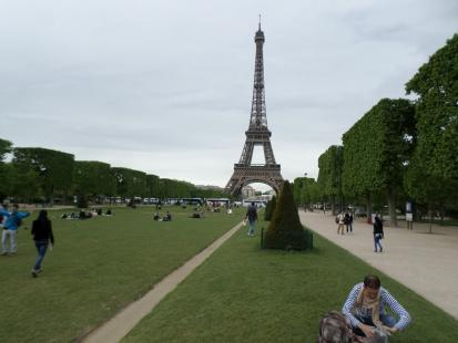 OpenNote:Eiffel Tower Paris France. A great place to run along the long walkways leading t