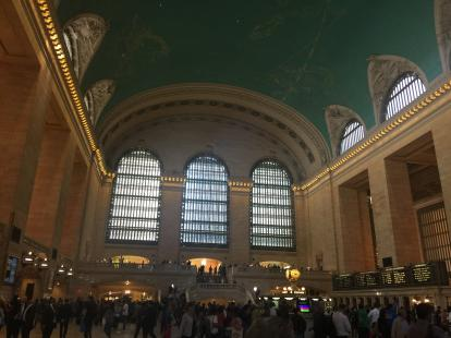 Grand Central Main lobby during the day. Into the city with Metro North