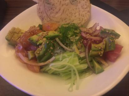 Poke bowl with tuna and rice at Kona Grill #food
