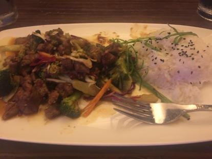 Stir fried beef at Kona Grill #food Soup and salad not included.